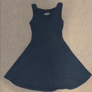 Gray Tank Top Fit-Flare Dress